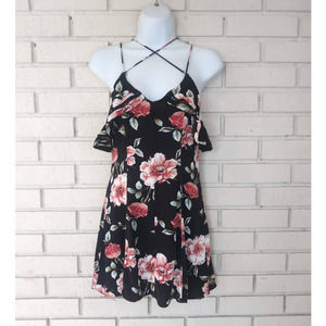 Kendall & Kylie Strappy Floral Mini Dress